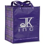 Expressions Laminated Grocery Tote - Purple