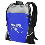 Hiker's Two Tone Drawstring Backpack