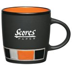 Colour Block Ceramic Mug - Black - 14 oz.