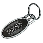 Nail Friendly Econo Metal Key Tag  - Oval