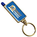 Domed Stylus Key Chain w/Colour Tip