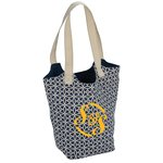 Reversible Hobo Zipper Tote - Sailing Compass
