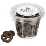 Round Snack Pack - Chocolate Pretzels