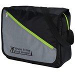 Diagonal Zip Messenger Bag