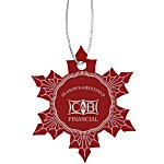 Coloured Aluminum Ornament - Snowflake