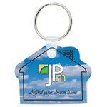 Soft Key Tag, House - Full Colour