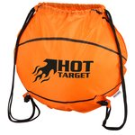 Game Time! Basketball Drawstring Backpack - Overstock