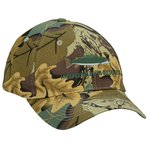 Mid Profile Cotton Twill Cap - Camo Leaf