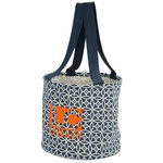 Round Utility Tote - Sailing Compass