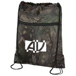 Outdoor Camo Zip Pocket Drawstring Sportpack