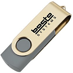View a larger, more detailed picture of the USB Swing Drive - Gold - 4GB