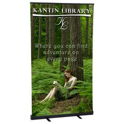 View a larger, more detailed picture of the Economy Retractor Banner Display - 48