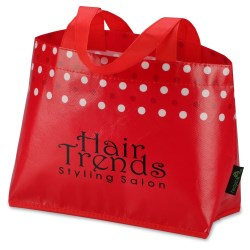 View a larger, more detailed picture of the Laminated Non-Woven Mini Dot Tote