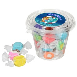 View a larger, more detailed picture of the Round Snack Pack - Assorted Salt Water Taffy